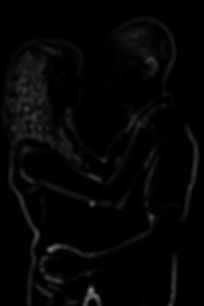 Highlighted Silhouette Photo Edit of a Young Couple, by Studio 55 Photography