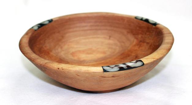 """Small 8"""" Olive Wood Circular Salad Bowl - Made in Kenya"""