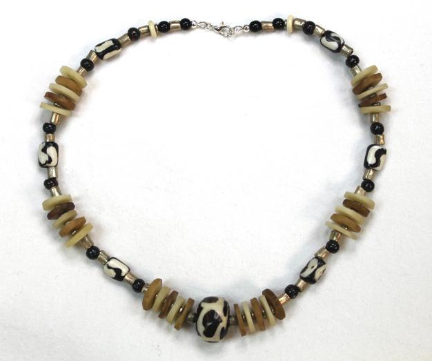 Mara Batik Chunky Short Necklace - Made in Kenya