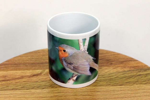 Original Photograph of a Robin Printed on a Mug
