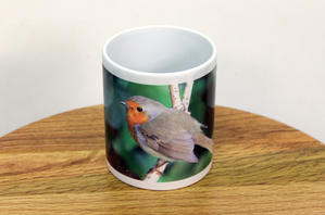 Original Photograph of a Robin Printed on a Mug