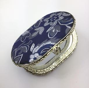 Oriental-design Mirror (Blue, Oval)