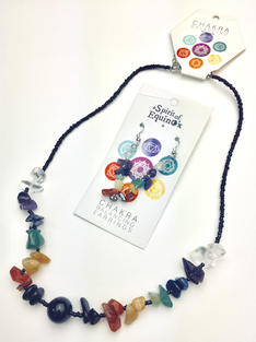 Semi-precious Stone Set (Necklace and Earrings)