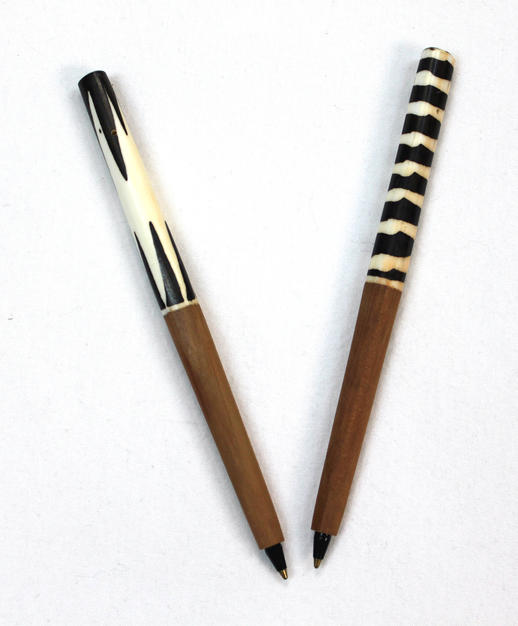 Wood Batik Handcrafted Pens - Made in Kenya
