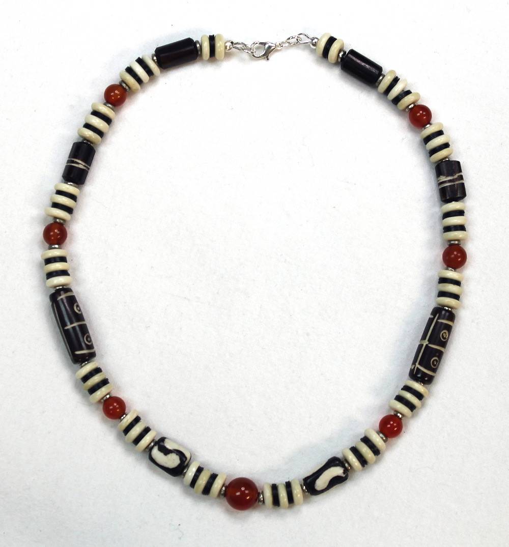 Short Mara Necklace with Amber, from Kenya