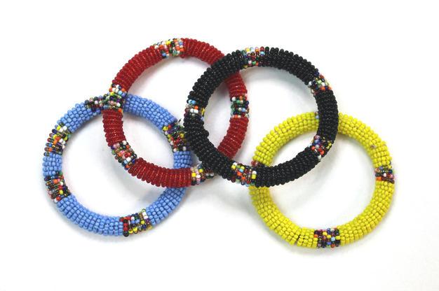 Masai Bead Bangles - Made in Kenya