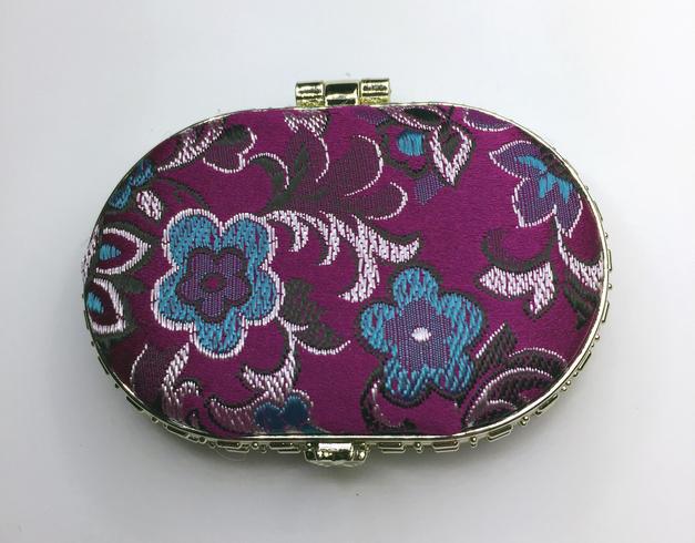 Oriental-design Mirror (Purple, Oval)