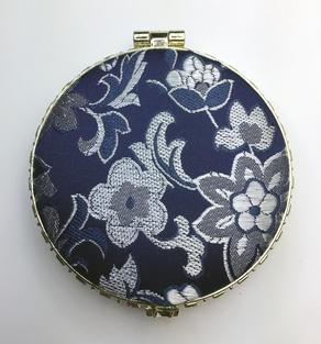 Oriental-design Mirror (Blue, Circle)