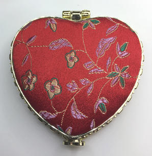 Oriental-design Mirror (Red, Heart)