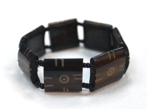 Bone Bead Stretch Bracelet - Made in Kenya
