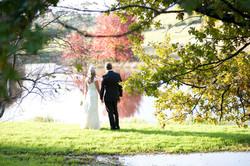 Bridal-couple-at-lake