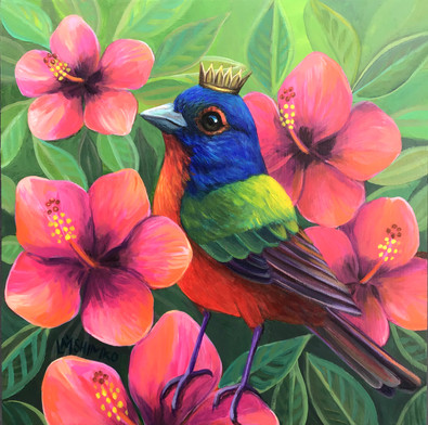 Painted Bunting Hibiscus