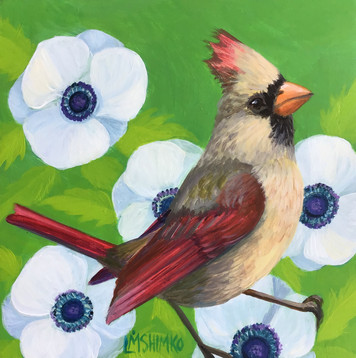 White Flower Cardinal (madame).