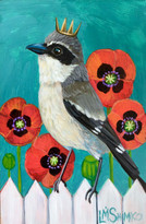 Loggerhead Shrike Poppies