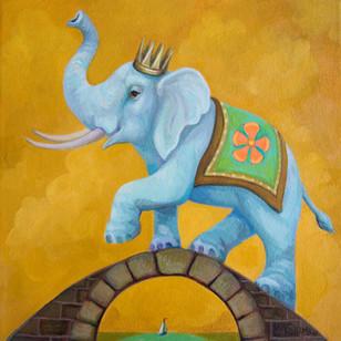 Gold Sky Elephant Bridge