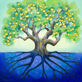 Golden Apple Tree of Life