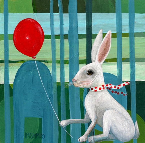 White Rabbit Polka-dot