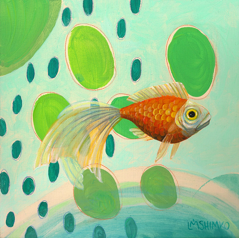 Goldfish Blue Green
