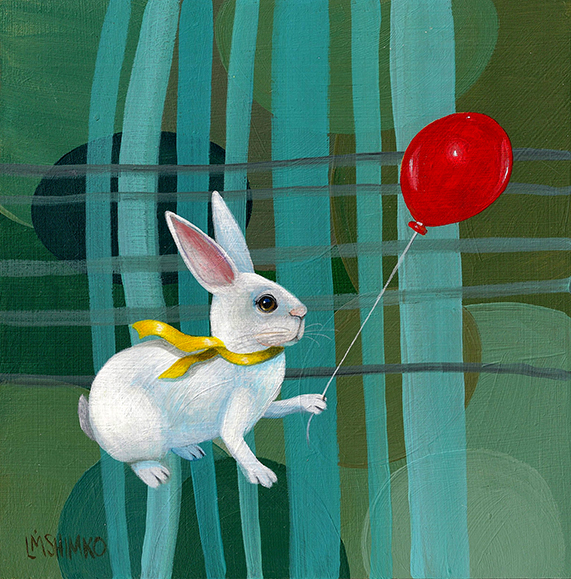 White Rabbit Red Balloon I
