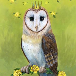 Yellow Rose Owl
