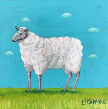 Blue Sky Sheep