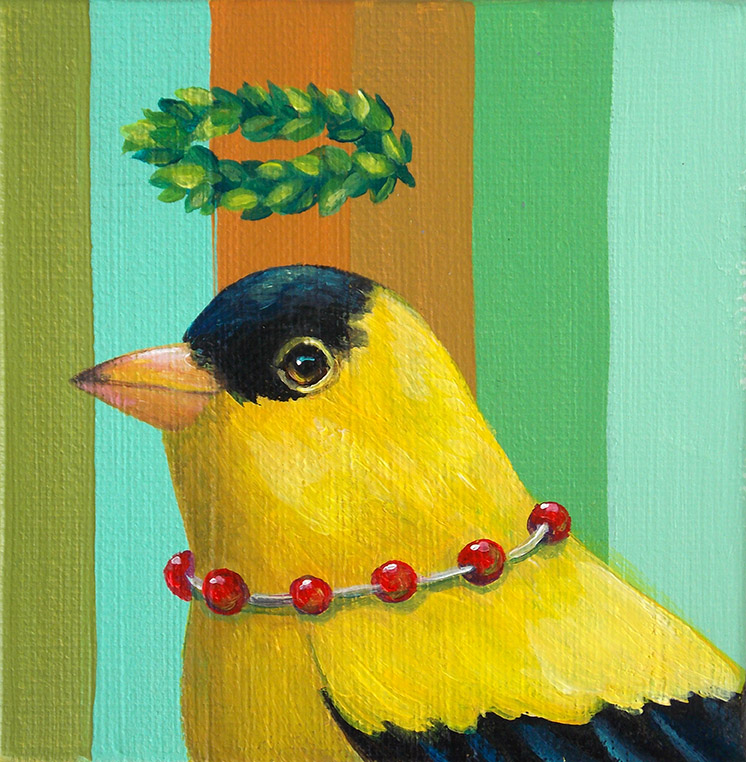 Goldfinch Garland