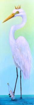 Message in a Bottle Great Egret