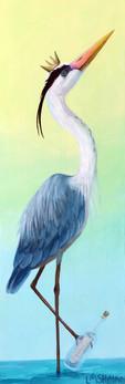Message in a Bottle Blue Heron