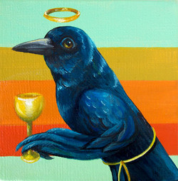 Gold Goblet Crow