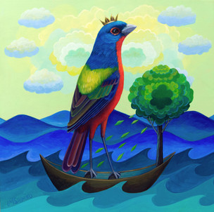 Dream Bough (painted bunting)