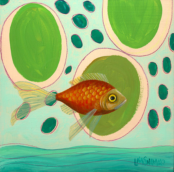 Goldfish Blue Green II