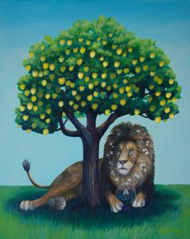 Lion Lemon Tree