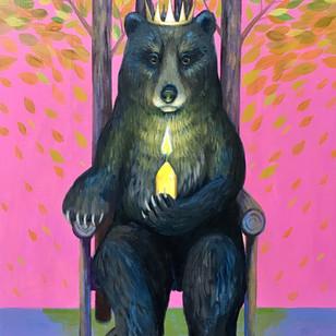 Bear Candle Throne