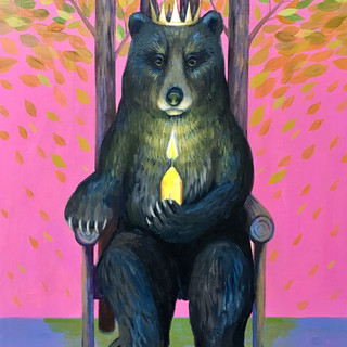 Bear Candle Throne