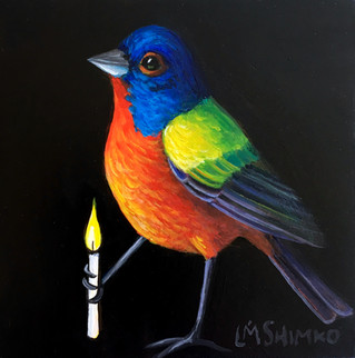 Candle Painted Bunting III