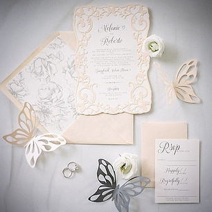 Butterfly Editorial Laser Cut Invite
