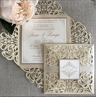 Laser Cut Gate Fol Invitation