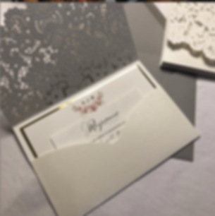 Inside of Lace Laser Cut Invitation pockt