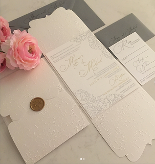 Letterpress and Embossed Folder