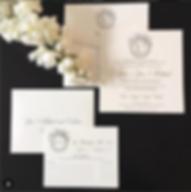 Mongrammed Letterpress invite