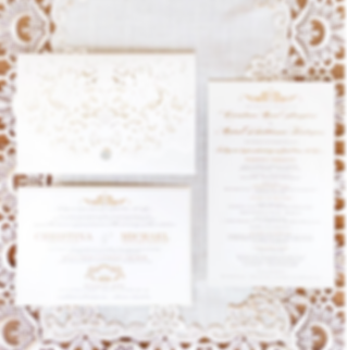 lace laser pocket invitation