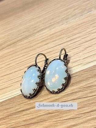 Ohrhänger Opal weiss