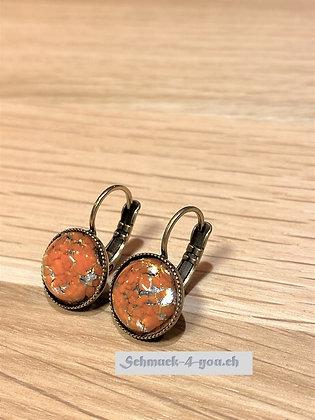 Ohrhänger rund orange