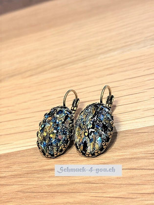 Ohrhänger Opal dunkel