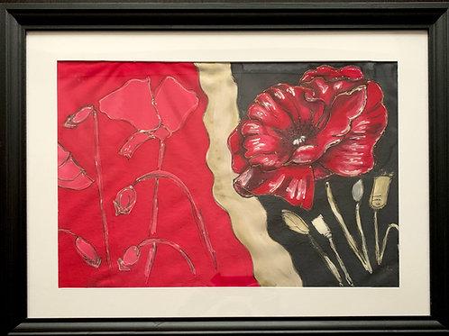 Silk Painting - Poppy1