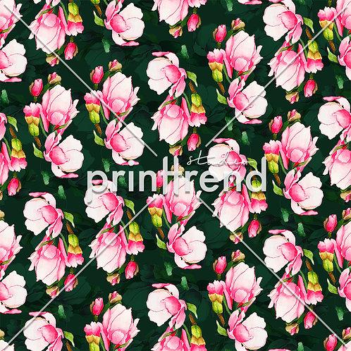 Pink regular flowers with dark background - Standard JPEG