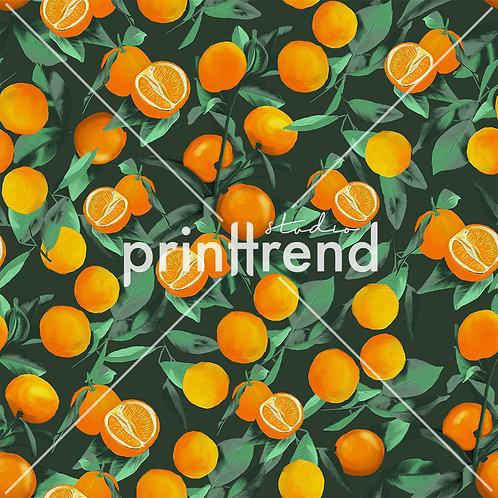 Orange tropical print - Standard JPEG