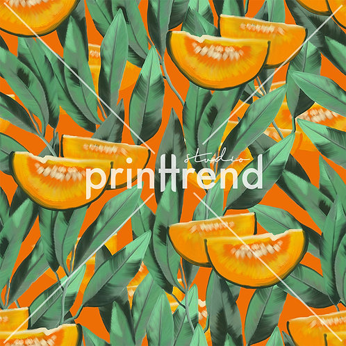Melon tropical print - Exclusive PSD