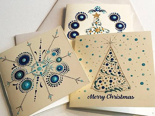 Christmas Cards - Blues