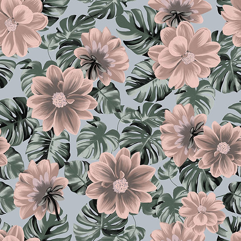 Pastel florals with ferns - Exclusive PSD